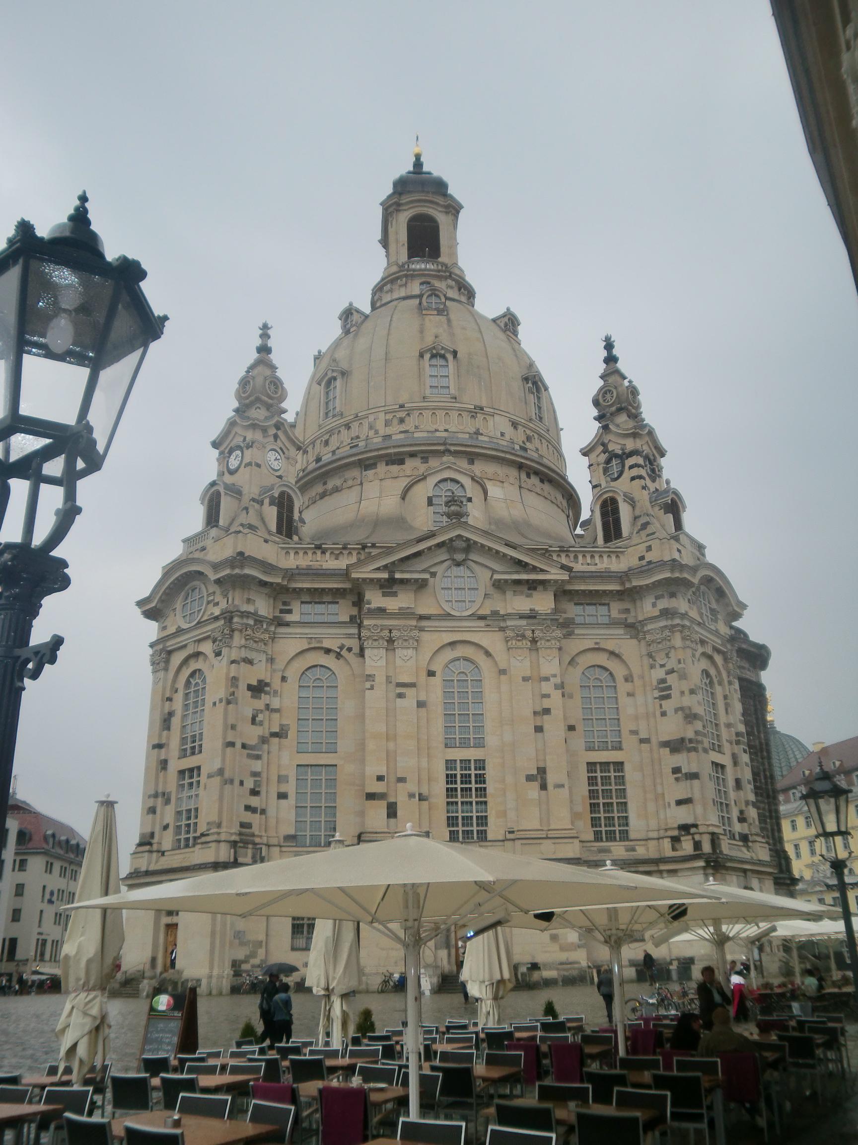 Die Dresdner Frauenkirche.